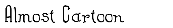 Almost Cartoon font preview
