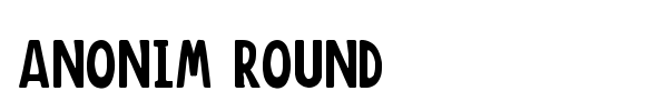 Anonim Round font preview