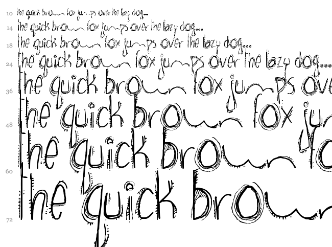 Brown Bear Funk font waterfall