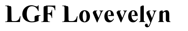 LGF Lovevelyn font preview