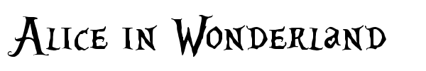 Alice in Wonderland font preview