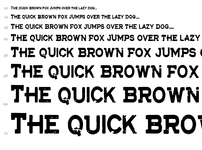 CF The Lost Battalion font waterfall