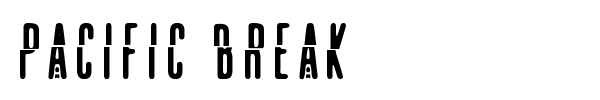 Pacific Break font preview