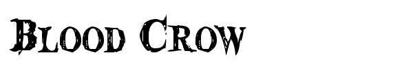 Blood Crow font preview