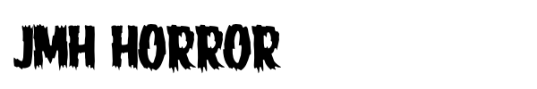 JMH Horror font preview
