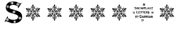 Snowflake Letters fuente