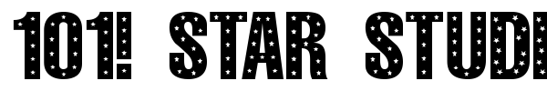 101! Star Studded font preview
