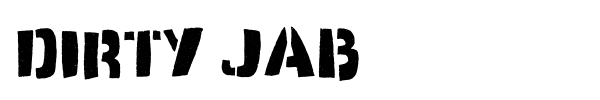 Dirty Jab font preview