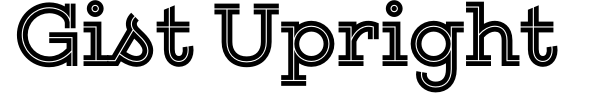 Gist Upright font preview