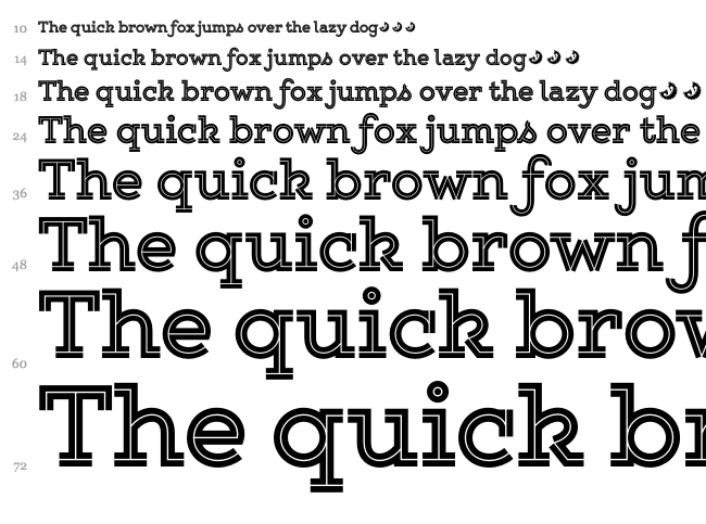 Gist Upright font waterfall