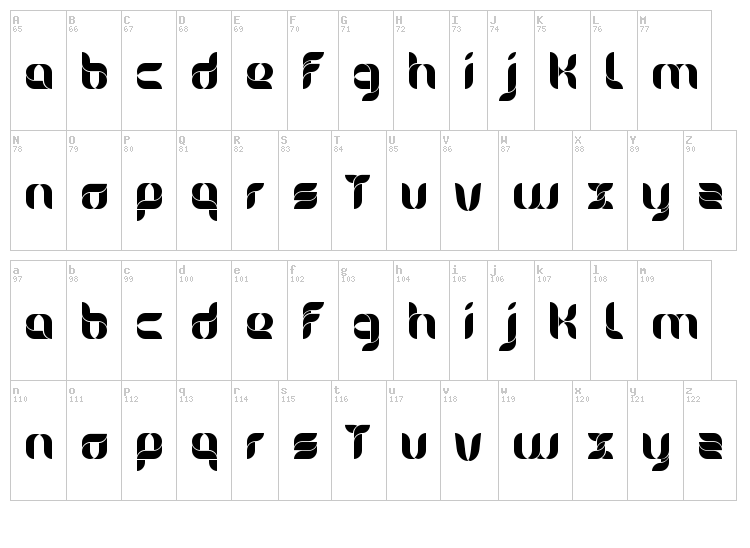 Alice font map