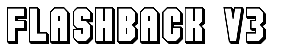 Flashback V3 font preview