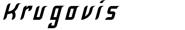 Krugovis font preview
