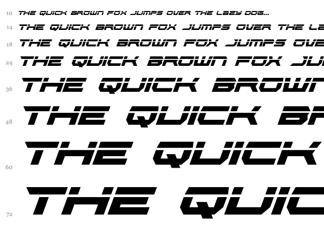 Lethal Force font waterfall