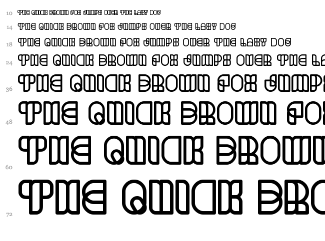 Science Fiction font waterfall