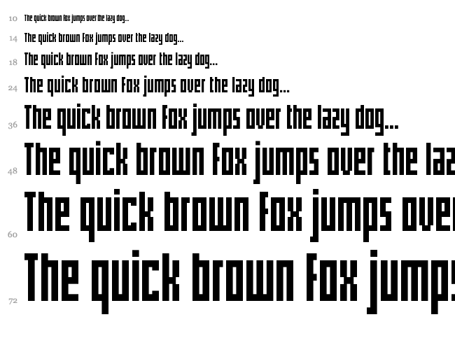 Pxlxxl Cond font waterfall