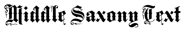 Middle Saxony Text fuente