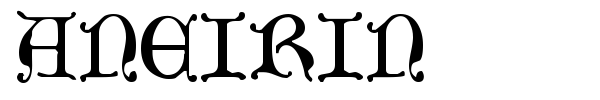 Aneirin font preview