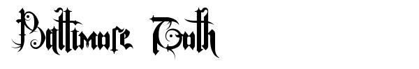 Baltimore Goth font preview