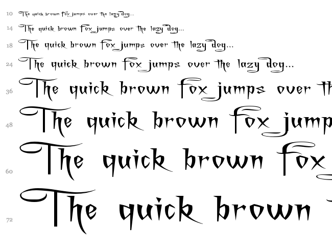 A Charming Font font waterfall