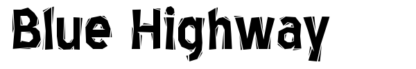 Blue Highway font preview