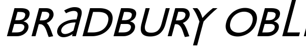 Bradbury Oblique font preview