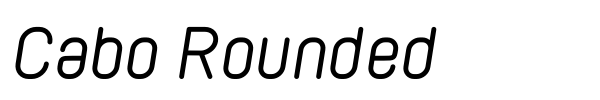 Cabo Rounded font preview