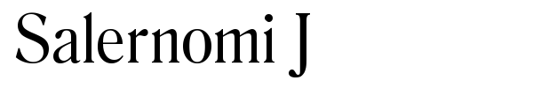 Salernomi J font preview