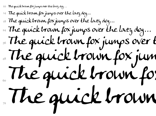 Anke Calligraphic FG font waterfall