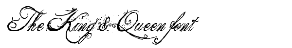 The King & Queen font fuente