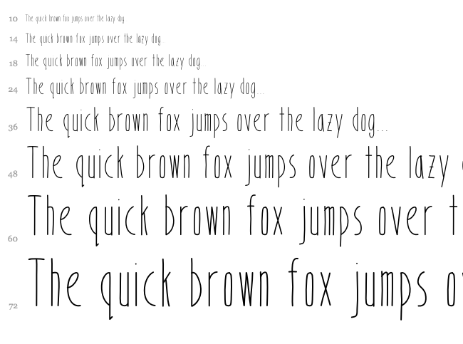 Bookends font waterfall