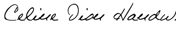 Celine Dion Handwriting fuente