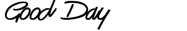 Good Day font preview