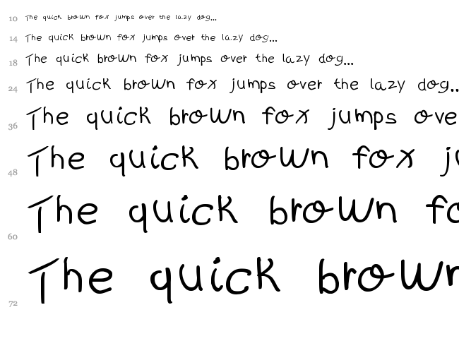 Kids Written font waterfall