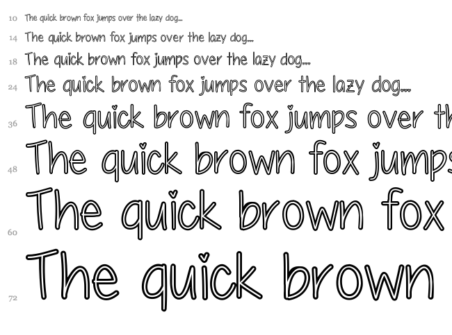 My First Crush font waterfall