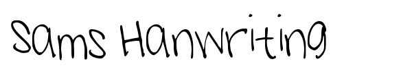 Sams Hanwriting font preview