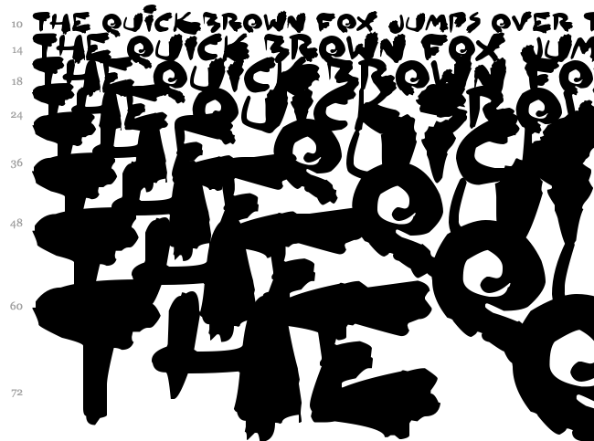 Inked Out font waterfall