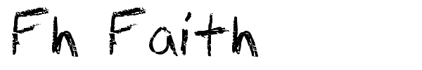 Fh Faith font preview