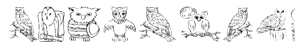 AEZ Owls for Traci font preview