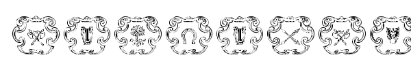 Armorial font preview