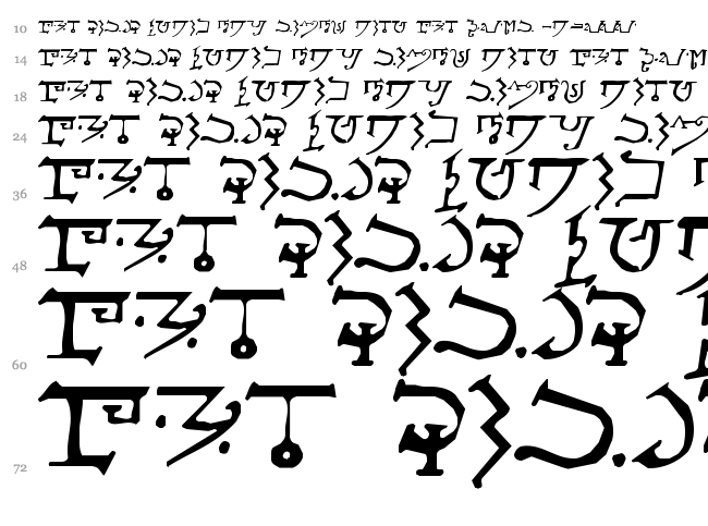 Alphabet of the Magi font waterfall