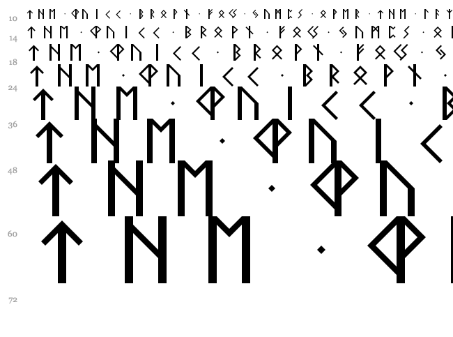 Elder Futhark 2 font waterfall