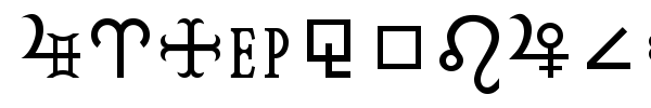 HamburgSymbols font preview
