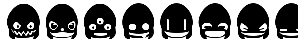Ghost & Punk Smileys font preview