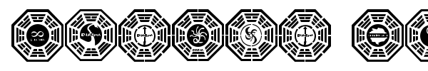 Dharma Initiative Logos font preview