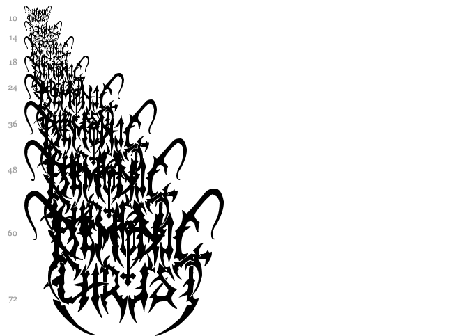 Black Metal G font waterfall