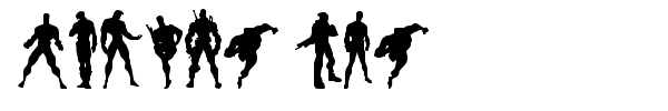 Action Men font preview