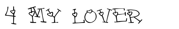 4 My Lover font preview