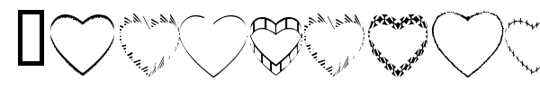 4YEOhearts font preview
