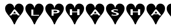AlphaShapes Hearts font preview
